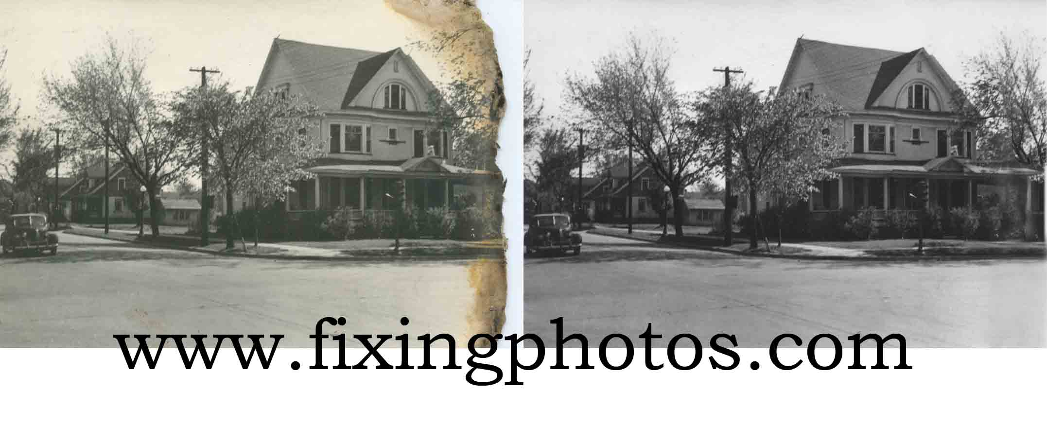 Photo Repair Wizards Of Fixing Photos Can Fix Your Burnt or Water Damaged Photos Visit www.fixingphotos.com Free Photo Repair Estimates! #photorepair #photorestoration
