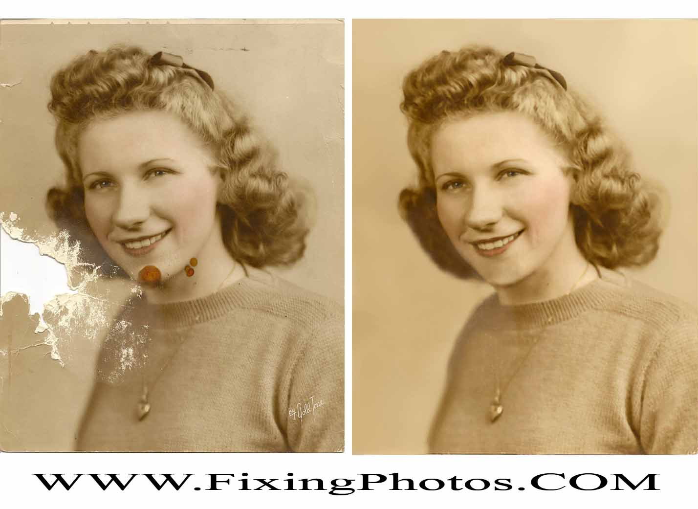 Photo Repair Wizards of Fixing Photos Has Been Piecing Together Damaged Photos Since 2003 Visit www.fixingphotos.com If you are not satisfied with the rework, we will refund your money! #photorepair #photorestoration #Anniversarygift #weddingphotorepair