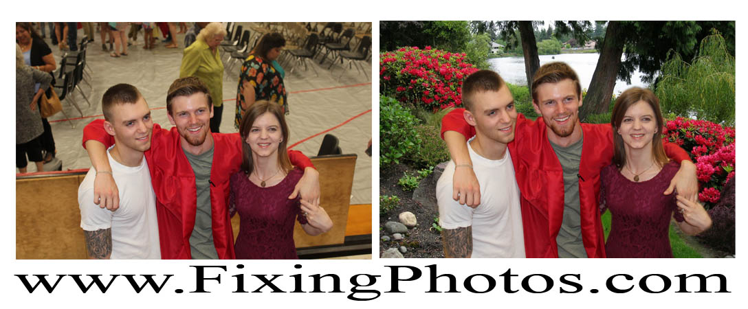 Photo Repair Wizards Fix Damaged Family Photos! visit www.fixingphotos.com for more samples of our high quality work.  #photorepair #photorestoration