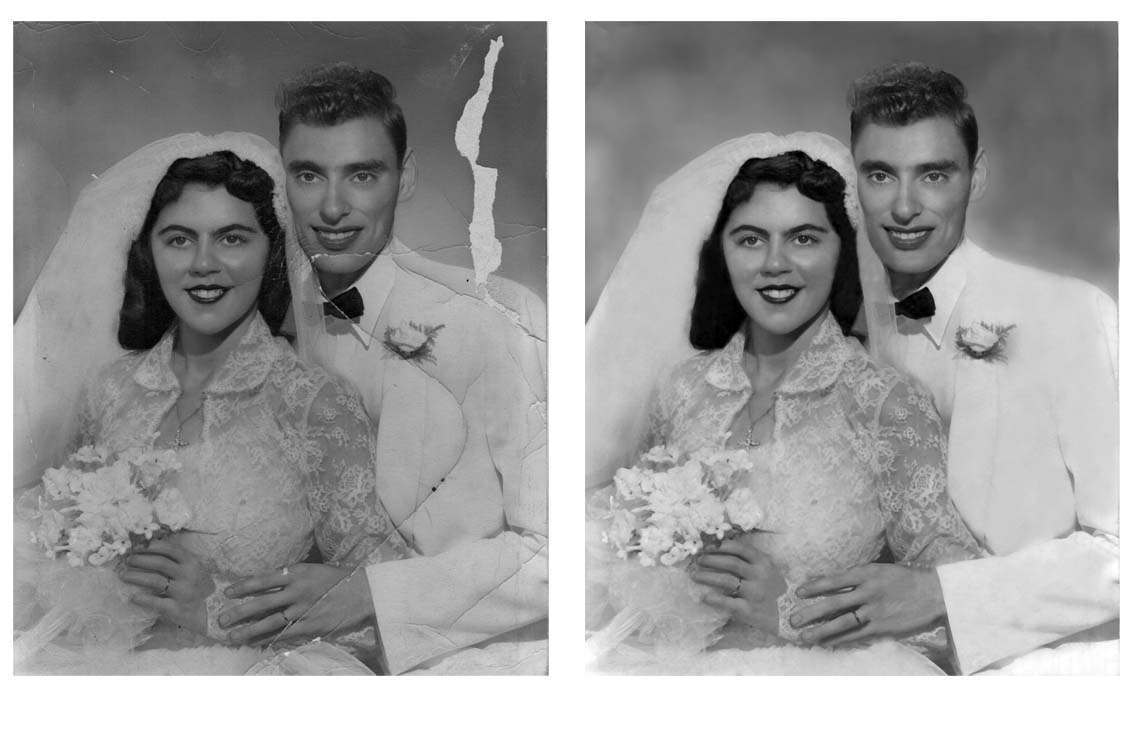 Photo Repair Wizards Restores Damaged Wedding Photos www.fixingphotos.com For A Free Photo Repair Quote!