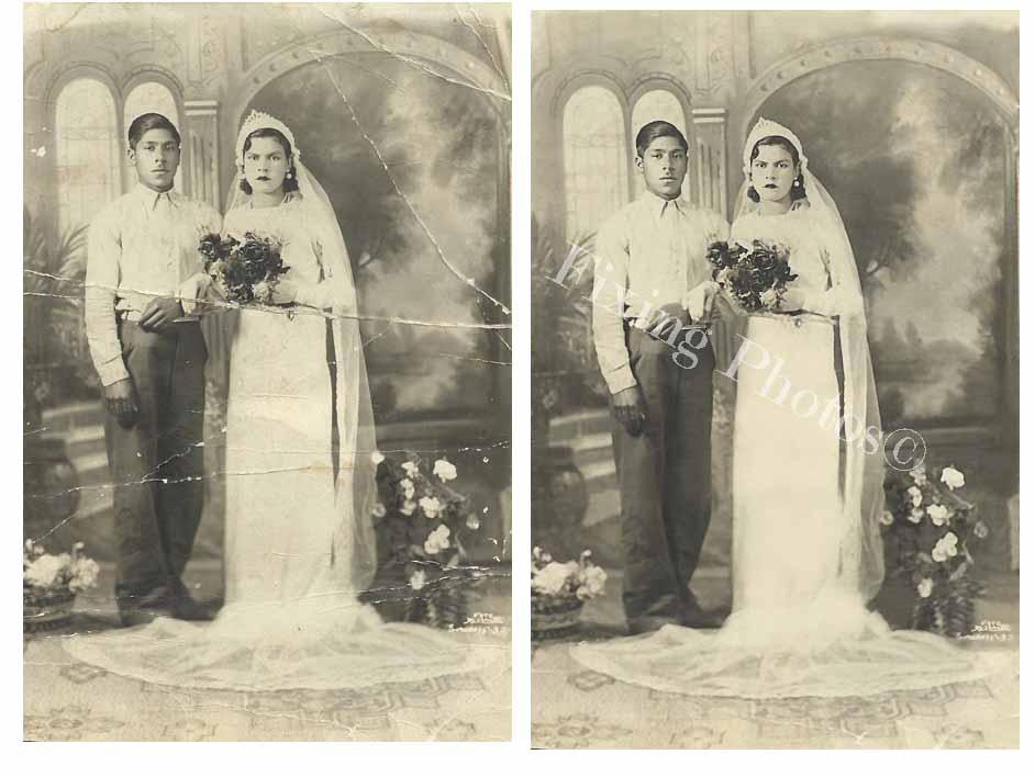 Vintage Wedding Photos Restored